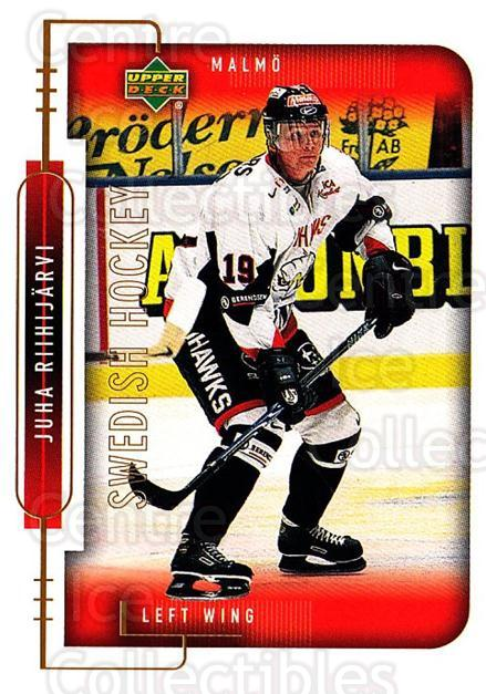 1999-00 Swedish Upper Deck #164 Juha Riihijarvi<br/>5 In Stock - $2.00 each - <a href=https://centericecollectibles.foxycart.com/cart?name=1999-00%20Swedish%20Upper%20Deck%20%23164%20Juha%20Riihijarvi...&quantity_max=5&price=$2.00&code=80681 class=foxycart> Buy it now! </a>