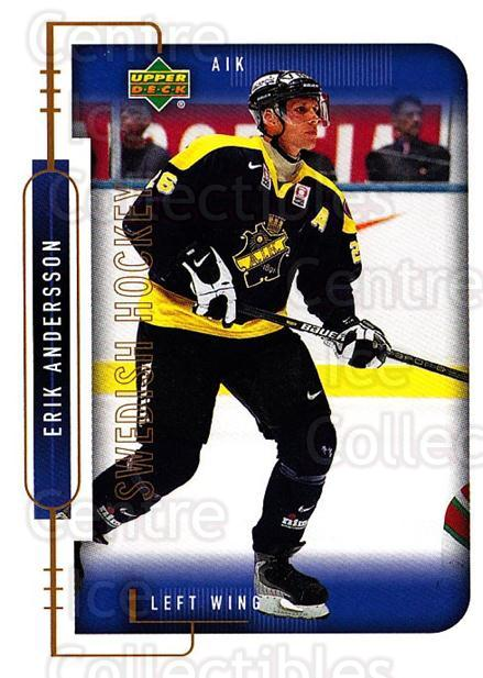 1999-00 Swedish Upper Deck #17 Erik Andersson<br/>4 In Stock - $2.00 each - <a href=https://centericecollectibles.foxycart.com/cart?name=1999-00%20Swedish%20Upper%20Deck%20%2317%20Erik%20Andersson...&quantity_max=4&price=$2.00&code=80687 class=foxycart> Buy it now! </a>