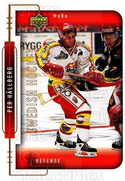 1999-00 Swedish Upper Deck #170 Per Hallberg<br/>7 In Stock - $2.00 each - <a href=https://centericecollectibles.foxycart.com/cart?name=1999-00%20Swedish%20Upper%20Deck%20%23170%20Per%20Hallberg...&quantity_max=7&price=$2.00&code=80688 class=foxycart> Buy it now! </a>