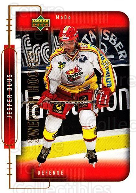1999-00 Swedish Upper Deck #172 Jesper Duus<br/>5 In Stock - $2.00 each - <a href=https://centericecollectibles.foxycart.com/cart?name=1999-00%20Swedish%20Upper%20Deck%20%23172%20Jesper%20Duus...&quantity_max=5&price=$2.00&code=80689 class=foxycart> Buy it now! </a>
