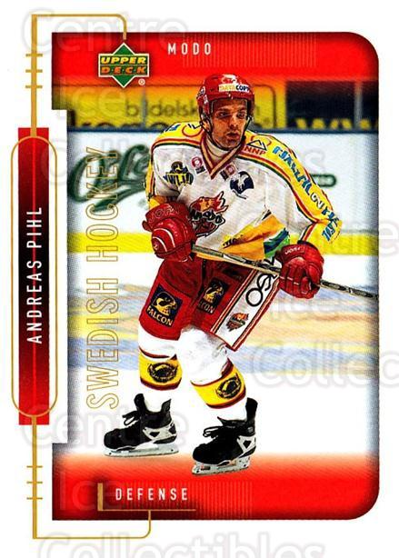 1999-00 Swedish Upper Deck #174 Andreas Pihl<br/>10 In Stock - $2.00 each - <a href=https://centericecollectibles.foxycart.com/cart?name=1999-00%20Swedish%20Upper%20Deck%20%23174%20Andreas%20Pihl...&quantity_max=10&price=$2.00&code=80690 class=foxycart> Buy it now! </a>