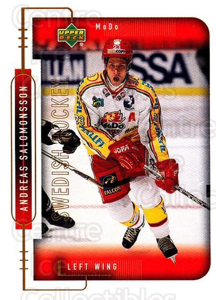 1999-00 Swedish Upper Deck #175 Andreas Salomonsson<br/>5 In Stock - $2.00 each - <a href=https://centericecollectibles.foxycart.com/cart?name=1999-00%20Swedish%20Upper%20Deck%20%23175%20Andreas%20Salomon...&quantity_max=5&price=$2.00&code=80691 class=foxycart> Buy it now! </a>