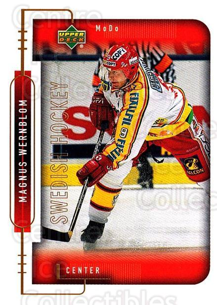 1999-00 Swedish Upper Deck #176 Magnus Wernblom<br/>8 In Stock - $2.00 each - <a href=https://centericecollectibles.foxycart.com/cart?name=1999-00%20Swedish%20Upper%20Deck%20%23176%20Magnus%20Wernblom...&quantity_max=8&price=$2.00&code=80692 class=foxycart> Buy it now! </a>