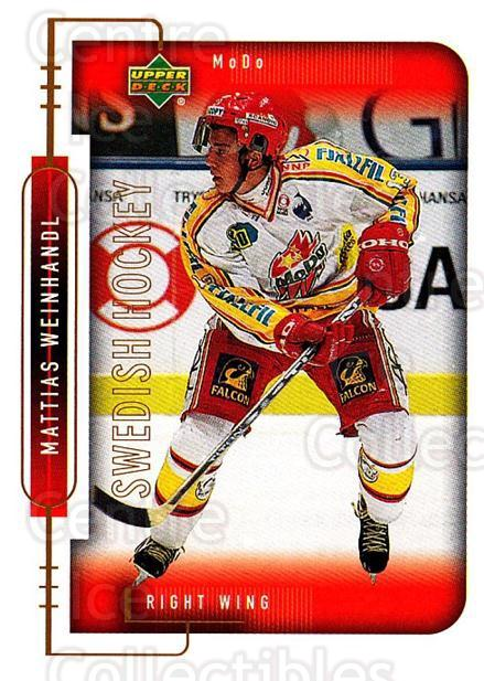 1999-00 Swedish Upper Deck #178 Mattias Weinhandl<br/>5 In Stock - $2.00 each - <a href=https://centericecollectibles.foxycart.com/cart?name=1999-00%20Swedish%20Upper%20Deck%20%23178%20Mattias%20Weinhan...&quantity_max=5&price=$2.00&code=80694 class=foxycart> Buy it now! </a>