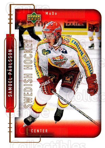 1999-00 Swedish Upper Deck #182 Samuel Pahlsson<br/>5 In Stock - $2.00 each - <a href=https://centericecollectibles.foxycart.com/cart?name=1999-00%20Swedish%20Upper%20Deck%20%23182%20Samuel%20Pahlsson...&quantity_max=5&price=$2.00&code=80697 class=foxycart> Buy it now! </a>