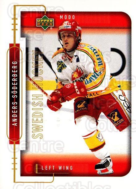1999-00 Swedish Upper Deck #183 Anders Soderberg<br/>9 In Stock - $2.00 each - <a href=https://centericecollectibles.foxycart.com/cart?name=1999-00%20Swedish%20Upper%20Deck%20%23183%20Anders%20Soderber...&quantity_max=9&price=$2.00&code=80698 class=foxycart> Buy it now! </a>