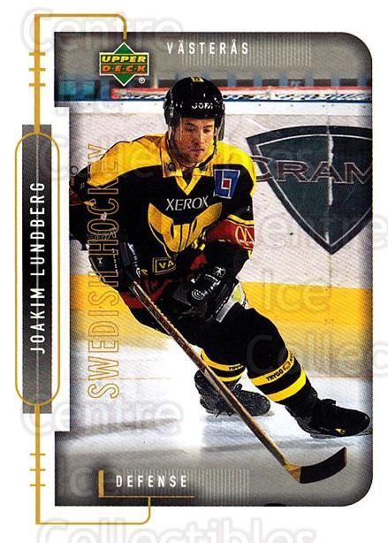 1999-00 Swedish Upper Deck #189 Joakim Lundberg<br/>6 In Stock - $2.00 each - <a href=https://centericecollectibles.foxycart.com/cart?name=1999-00%20Swedish%20Upper%20Deck%20%23189%20Joakim%20Lundberg...&quantity_max=6&price=$2.00&code=80703 class=foxycart> Buy it now! </a>