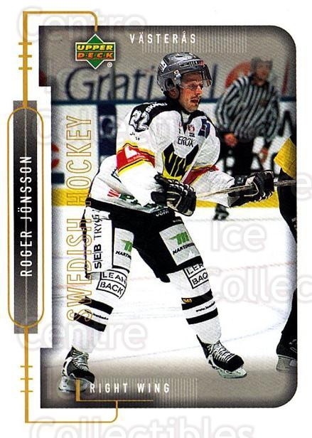 1999-00 Swedish Upper Deck #191 Roger Jonsson<br/>9 In Stock - $2.00 each - <a href=https://centericecollectibles.foxycart.com/cart?name=1999-00%20Swedish%20Upper%20Deck%20%23191%20Roger%20Jonsson...&quantity_max=9&price=$2.00&code=80706 class=foxycart> Buy it now! </a>