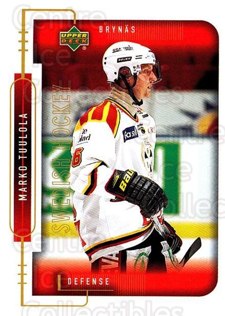 1999-00 Swedish Upper Deck #20 Marko Tuulola<br/>7 In Stock - $2.00 each - <a href=https://centericecollectibles.foxycart.com/cart?name=1999-00%20Swedish%20Upper%20Deck%20%2320%20Marko%20Tuulola...&quantity_max=7&price=$2.00&code=80715 class=foxycart> Buy it now! </a>