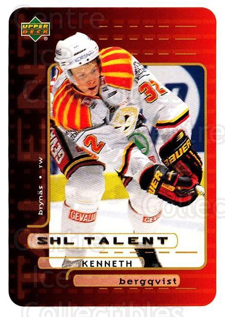 1999-00 Swedish Upper Deck #202 Kenneth Bergqvist<br/>9 In Stock - $2.00 each - <a href=https://centericecollectibles.foxycart.com/cart?name=1999-00%20Swedish%20Upper%20Deck%20%23202%20Kenneth%20Bergqvi...&quantity_max=9&price=$2.00&code=80718 class=foxycart> Buy it now! </a>