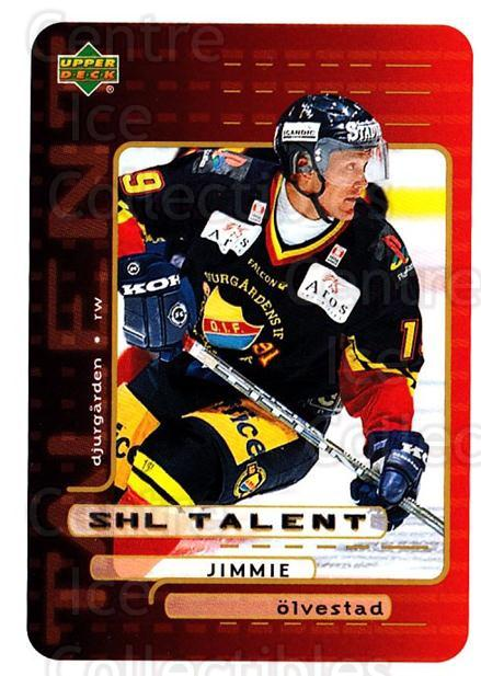 1999-00 Swedish Upper Deck #204 Jimmie Olvestad<br/>9 In Stock - $2.00 each - <a href=https://centericecollectibles.foxycart.com/cart?name=1999-00%20Swedish%20Upper%20Deck%20%23204%20Jimmie%20Olvestad...&quantity_max=9&price=$2.00&code=80720 class=foxycart> Buy it now! </a>