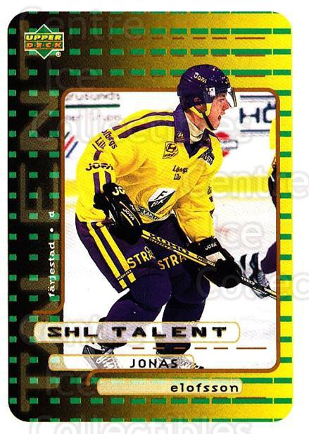 1999-00 Swedish Upper Deck #205 Jonas Elofsson<br/>10 In Stock - $2.00 each - <a href=https://centericecollectibles.foxycart.com/cart?name=1999-00%20Swedish%20Upper%20Deck%20%23205%20Jonas%20Elofsson...&quantity_max=10&price=$2.00&code=80721 class=foxycart> Buy it now! </a>