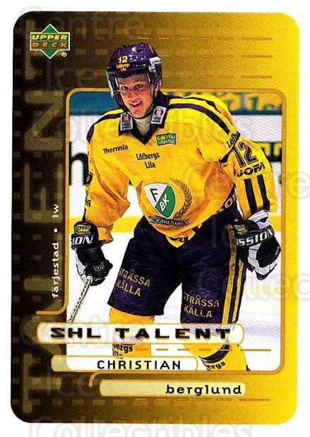 1999-00 Swedish Upper Deck #206 Christian Berglund<br/>2 In Stock - $2.00 each - <a href=https://centericecollectibles.foxycart.com/cart?name=1999-00%20Swedish%20Upper%20Deck%20%23206%20Christian%20Bergl...&quantity_max=2&price=$2.00&code=80722 class=foxycart> Buy it now! </a>