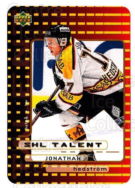 1999-00 Swedish Upper Deck #211 Jonathan Hedstrom<br/>10 In Stock - $2.00 each - <a href=https://centericecollectibles.foxycart.com/cart?name=1999-00%20Swedish%20Upper%20Deck%20%23211%20Jonathan%20Hedstr...&quantity_max=10&price=$2.00&code=80727 class=foxycart> Buy it now! </a>