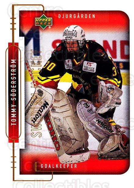 1999-00 Swedish Upper Deck #219 Tommy Soderstrom<br/>4 In Stock - $2.00 each - <a href=https://centericecollectibles.foxycart.com/cart?name=1999-00%20Swedish%20Upper%20Deck%20%23219%20Tommy%20Soderstro...&quantity_max=4&price=$2.00&code=80735 class=foxycart> Buy it now! </a>