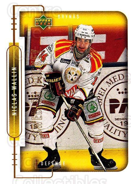 1999-00 Swedish Upper Deck #23 Niclas Wallin<br/>6 In Stock - $2.00 each - <a href=https://centericecollectibles.foxycart.com/cart?name=1999-00%20Swedish%20Upper%20Deck%20%2323%20Niclas%20Wallin...&quantity_max=6&price=$2.00&code=80737 class=foxycart> Buy it now! </a>