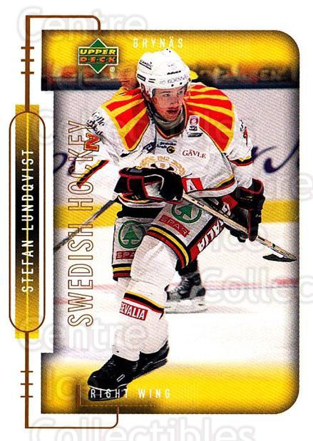 1999-00 Swedish Upper Deck #26 Stefan Lundqvist<br/>7 In Stock - $2.00 each - <a href=https://centericecollectibles.foxycart.com/cart?name=1999-00%20Swedish%20Upper%20Deck%20%2326%20Stefan%20Lundqvis...&quantity_max=7&price=$2.00&code=80740 class=foxycart> Buy it now! </a>