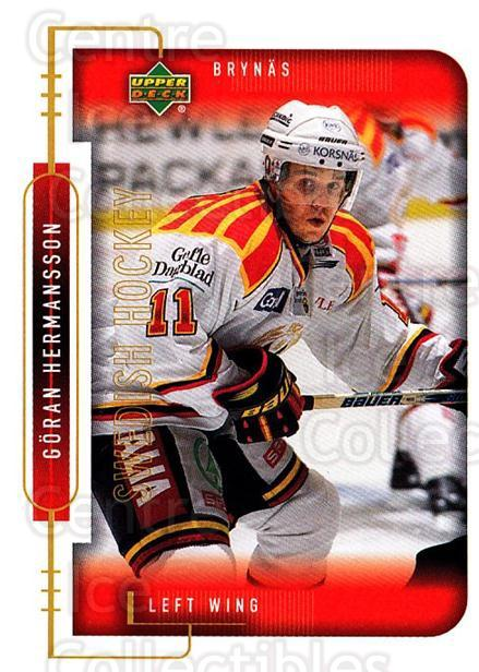 1999-00 Swedish Upper Deck #27 Goran Hermansson<br/>8 In Stock - $2.00 each - <a href=https://centericecollectibles.foxycart.com/cart?name=1999-00%20Swedish%20Upper%20Deck%20%2327%20Goran%20Hermansso...&quantity_max=8&price=$2.00&code=80741 class=foxycart> Buy it now! </a>