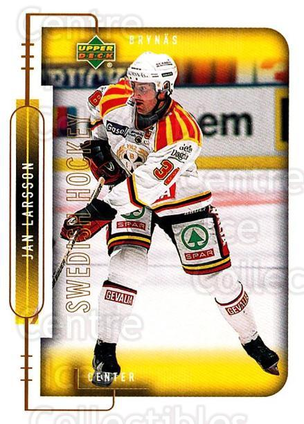 1999-00 Swedish Upper Deck #28 Jan Larsson<br/>9 In Stock - $2.00 each - <a href=https://centericecollectibles.foxycart.com/cart?name=1999-00%20Swedish%20Upper%20Deck%20%2328%20Jan%20Larsson...&quantity_max=9&price=$2.00&code=80742 class=foxycart> Buy it now! </a>