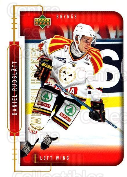1999-00 Swedish Upper Deck #29 Daniel Rudslatt<br/>3 In Stock - $2.00 each - <a href=https://centericecollectibles.foxycart.com/cart?name=1999-00%20Swedish%20Upper%20Deck%20%2329%20Daniel%20Rudslatt...&quantity_max=3&price=$2.00&code=80743 class=foxycart> Buy it now! </a>