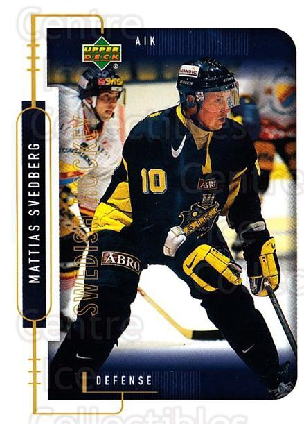 1999-00 Swedish Upper Deck #3 Mathias Svedberg<br/>6 In Stock - $2.00 each - <a href=https://centericecollectibles.foxycart.com/cart?name=1999-00%20Swedish%20Upper%20Deck%20%233%20Mathias%20Svedber...&quantity_max=6&price=$2.00&code=80744 class=foxycart> Buy it now! </a>