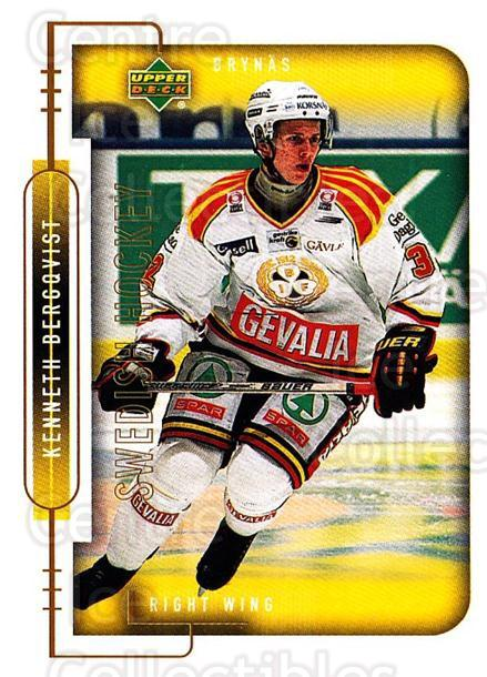 1999-00 Swedish Upper Deck #31 Kenneth Bergqvist<br/>8 In Stock - $2.00 each - <a href=https://centericecollectibles.foxycart.com/cart?name=1999-00%20Swedish%20Upper%20Deck%20%2331%20Kenneth%20Bergqvi...&quantity_max=8&price=$2.00&code=80746 class=foxycart> Buy it now! </a>