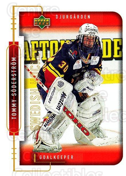 1999-00 Swedish Upper Deck #35 Tommy Soderstrom<br/>4 In Stock - $2.00 each - <a href=https://centericecollectibles.foxycart.com/cart?name=1999-00%20Swedish%20Upper%20Deck%20%2335%20Tommy%20Soderstro...&quantity_max=4&price=$2.00&code=80750 class=foxycart> Buy it now! </a>