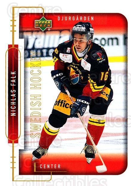 1999-00 Swedish Upper Deck #42 Niklas Falk<br/>7 In Stock - $2.00 each - <a href=https://centericecollectibles.foxycart.com/cart?name=1999-00%20Swedish%20Upper%20Deck%20%2342%20Niklas%20Falk...&quantity_max=7&price=$2.00&code=80757 class=foxycart> Buy it now! </a>