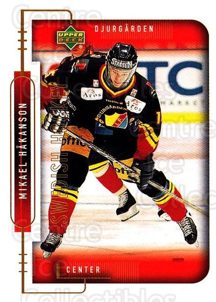 1999-00 Swedish Upper Deck #43 Mikael Hakansson<br/>8 In Stock - $2.00 each - <a href=https://centericecollectibles.foxycart.com/cart?name=1999-00%20Swedish%20Upper%20Deck%20%2343%20Mikael%20Hakansso...&quantity_max=8&price=$2.00&code=80758 class=foxycart> Buy it now! </a>