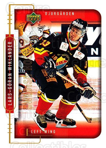 1999-00 Swedish Upper Deck #45 Lars-Goran Wiklander<br/>8 In Stock - $2.00 each - <a href=https://centericecollectibles.foxycart.com/cart?name=1999-00%20Swedish%20Upper%20Deck%20%2345%20Lars-Goran%20Wikl...&quantity_max=8&price=$2.00&code=80760 class=foxycart> Buy it now! </a>