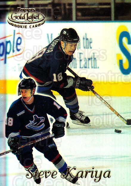 1999-00 Topps Gold Label Class 1 #100 Steve Kariya<br/>1 In Stock - $1.00 each - <a href=https://centericecollectibles.foxycart.com/cart?name=1999-00%20Topps%20Gold%20Label%20Class%201%20%23100%20Steve%20Kariya...&quantity_max=1&price=$1.00&code=80901 class=foxycart> Buy it now! </a>