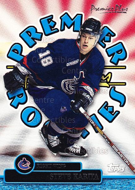 1999-00 Topps Premier Plus Premier Rookies #8 Steve Kariya<br/>4 In Stock - $2.00 each - <a href=https://centericecollectibles.foxycart.com/cart?name=1999-00%20Topps%20Premier%20Plus%20Premier%20Rookies%20%238%20Steve%20Kariya...&quantity_max=4&price=$2.00&code=81061 class=foxycart> Buy it now! </a>