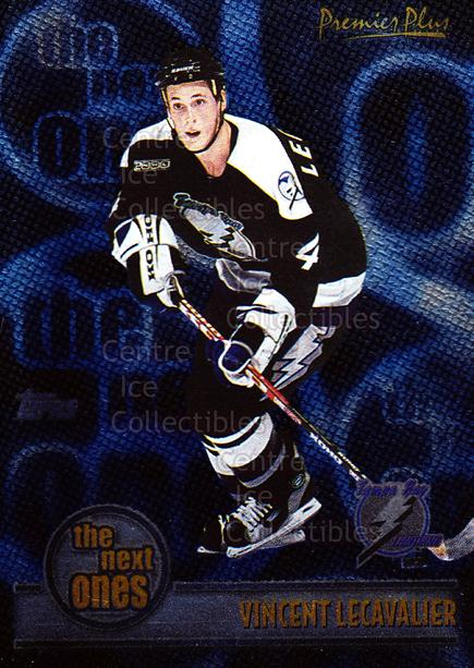 1999-00 Topps Premier Plus The Next Ones #1 Vincent Lecavalier<br/>9 In Stock - $2.00 each - <a href=https://centericecollectibles.foxycart.com/cart?name=1999-00%20Topps%20Premier%20Plus%20The%20Next%20Ones%20%231%20Vincent%20Lecaval...&quantity_max=9&price=$2.00&code=81067 class=foxycart> Buy it now! </a>