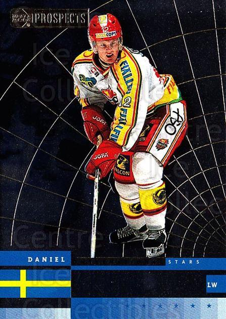1999-00 UD CHL Prospects International Stars #1 Daniel Sedin<br/>3 In Stock - $2.00 each - <a href=https://centericecollectibles.foxycart.com/cart?name=1999-00%20UD%20CHL%20Prospects%20International%20Stars%20%231%20Daniel%20Sedin...&price=$2.00&code=81189 class=foxycart> Buy it now! </a>