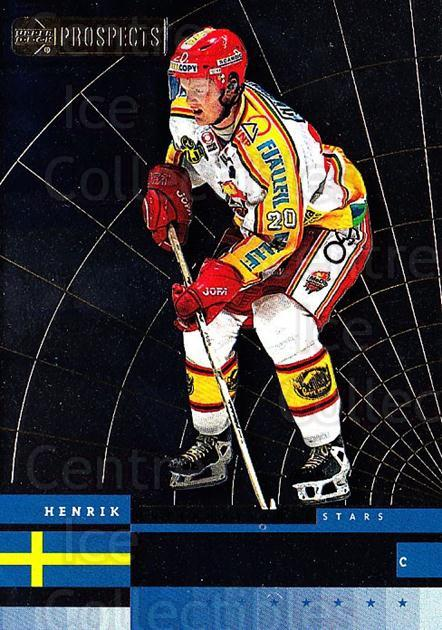 1999-00 UD CHL Prospects International Stars #2 Henrik Sedin<br/>5 In Stock - $3.00 each - <a href=https://centericecollectibles.foxycart.com/cart?name=1999-00%20UD%20CHL%20Prospects%20International%20Stars%20%232%20Henrik%20Sedin...&quantity_max=5&price=$3.00&code=81191 class=foxycart> Buy it now! </a>