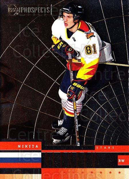 1999-00 UD CHL Prospects International Stars #7 Nikita Alexeev<br/>2 In Stock - $3.00 each - <a href=https://centericecollectibles.foxycart.com/cart?name=1999-00%20UD%20CHL%20Prospects%20International%20Stars%20%237%20Nikita%20Alexeev...&quantity_max=2&price=$3.00&code=81194 class=foxycart> Buy it now! </a>