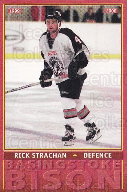 1999-00 UK British Elite Basingstoke Bison #1 Rick Strachan<br/>4 In Stock - $3.00 each - <a href=https://centericecollectibles.foxycart.com/cart?name=1999-00%20UK%20British%20Elite%20Basingstoke%20Bison%20%231%20Rick%20Strachan...&quantity_max=4&price=$3.00&code=81283 class=foxycart> Buy it now! </a>