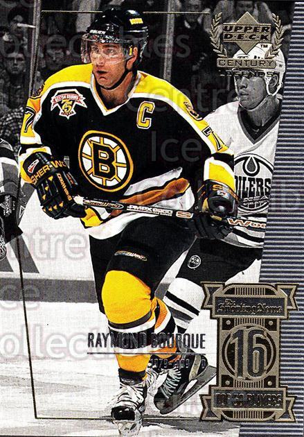 1999-00 UD Century Legends #16 Ray Bourque<br/>7 In Stock - $1.00 each - <a href=https://centericecollectibles.foxycart.com/cart?name=1999-00%20UD%20Century%20Legends%20%2316%20Ray%20Bourque...&quantity_max=7&price=$1.00&code=81490 class=foxycart> Buy it now! </a>