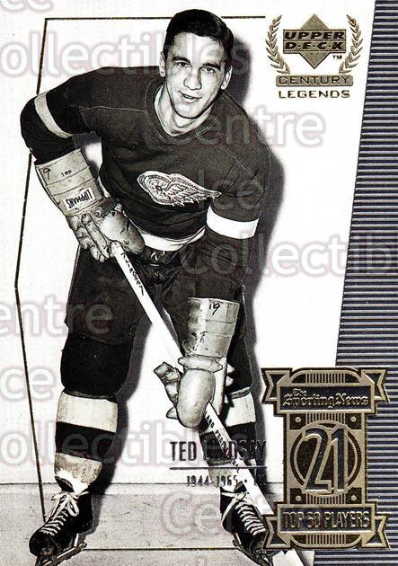 1999-00 UD Century Legends #21 Ted Lindsay<br/>8 In Stock - $2.00 each - <a href=https://centericecollectibles.foxycart.com/cart?name=1999-00%20UD%20Century%20Legends%20%2321%20Ted%20Lindsay...&quantity_max=8&price=$2.00&code=81495 class=foxycart> Buy it now! </a>