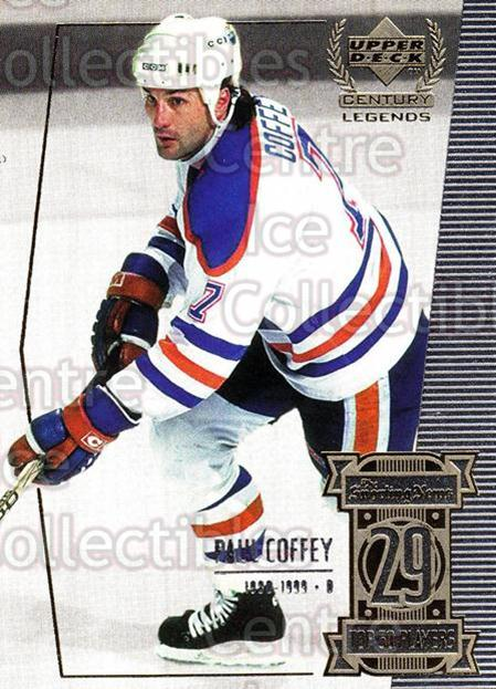 1999-00 UD Century Legends #29 Paul Coffey<br/>5 In Stock - $1.00 each - <a href=https://centericecollectibles.foxycart.com/cart?name=1999-00%20UD%20Century%20Legends%20%2329%20Paul%20Coffey...&quantity_max=5&price=$1.00&code=81501 class=foxycart> Buy it now! </a>
