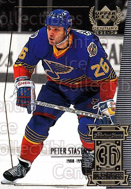 1999-00 UD Century Legends #36 Peter Stastny<br/>4 In Stock - $2.00 each - <a href=https://centericecollectibles.foxycart.com/cart?name=1999-00%20UD%20Century%20Legends%20%2336%20Peter%20Stastny...&quantity_max=4&price=$2.00&code=81508 class=foxycart> Buy it now! </a>