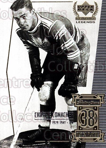 1999-00 UD Century Legends #38 Charlie Conacher<br/>4 In Stock - $2.00 each - <a href=https://centericecollectibles.foxycart.com/cart?name=1999-00%20UD%20Century%20Legends%20%2338%20Charlie%20Conache...&quantity_max=4&price=$2.00&code=81510 class=foxycart> Buy it now! </a>