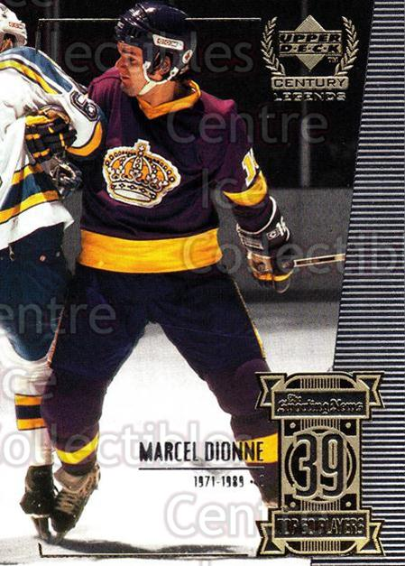 1999-00 UD Century Legends #39 Marcel Dionne<br/>8 In Stock - $1.00 each - <a href=https://centericecollectibles.foxycart.com/cart?name=1999-00%20UD%20Century%20Legends%20%2339%20Marcel%20Dionne...&quantity_max=8&price=$1.00&code=81511 class=foxycart> Buy it now! </a>