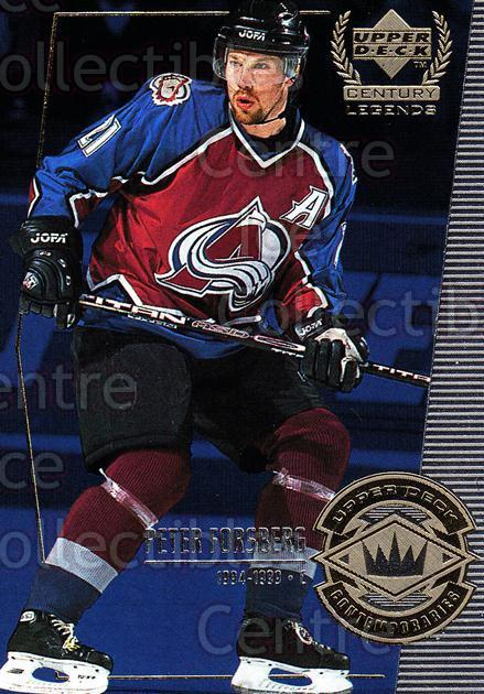 1999-00 UD Century Legends #53 Peter Forsberg<br/>4 In Stock - $2.00 each - <a href=https://centericecollectibles.foxycart.com/cart?name=1999-00%20UD%20Century%20Legends%20%2353%20Peter%20Forsberg...&quantity_max=4&price=$2.00&code=81526 class=foxycart> Buy it now! </a>