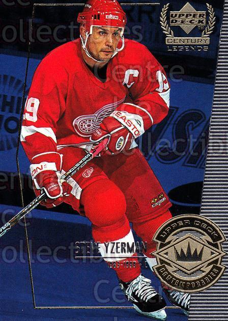 1999-00 UD Century Legends #56 Steve Yzerman<br/>8 In Stock - $2.00 each - <a href=https://centericecollectibles.foxycart.com/cart?name=1999-00%20UD%20Century%20Legends%20%2356%20Steve%20Yzerman...&quantity_max=8&price=$2.00&code=81529 class=foxycart> Buy it now! </a>