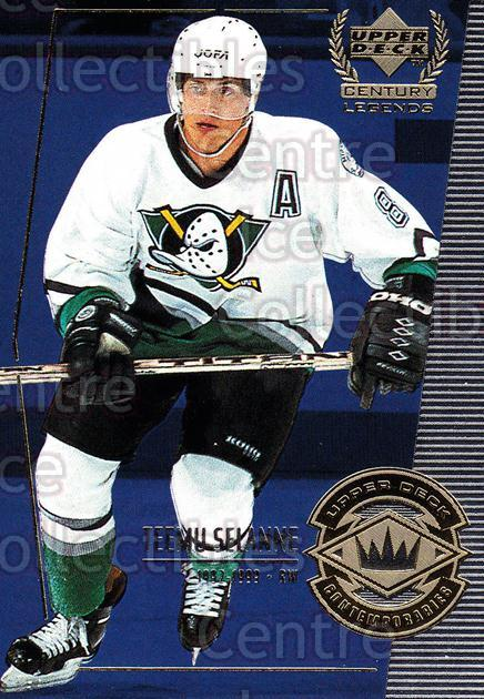 1999-00 UD Century Legends #59 Teemu Selanne<br/>12 In Stock - $2.00 each - <a href=https://centericecollectibles.foxycart.com/cart?name=1999-00%20UD%20Century%20Legends%20%2359%20Teemu%20Selanne...&quantity_max=12&price=$2.00&code=81532 class=foxycart> Buy it now! </a>