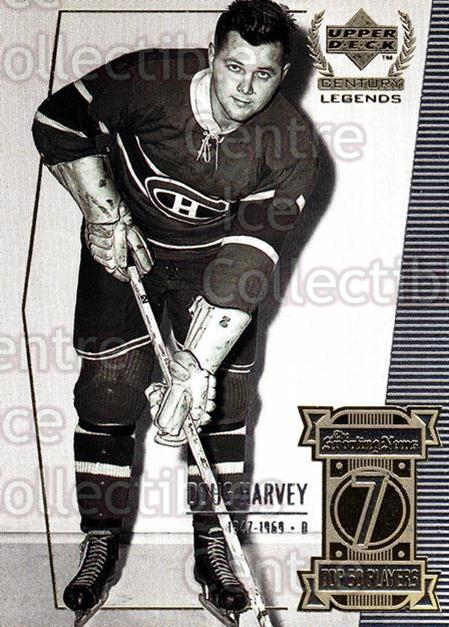 1999-00 UD Century Legends #7 Doug Harvey<br/>6 In Stock - $2.00 each - <a href=https://centericecollectibles.foxycart.com/cart?name=1999-00%20UD%20Century%20Legends%20%237%20Doug%20Harvey...&quantity_max=6&price=$2.00&code=81544 class=foxycart> Buy it now! </a>
