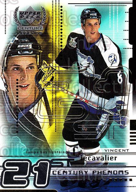 1999-00 UD Century Legends #72 Vincent Lecavalier<br/>9 In Stock - $1.00 each - <a href=https://centericecollectibles.foxycart.com/cart?name=1999-00%20UD%20Century%20Legends%20%2372%20Vincent%20Lecaval...&quantity_max=9&price=$1.00&code=81547 class=foxycart> Buy it now! </a>