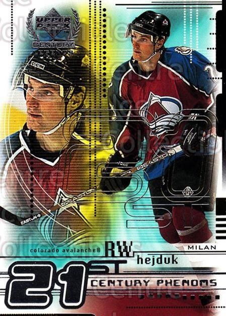 1999-00 UD Century Legends #75 Milan Hejduk<br/>8 In Stock - $1.00 each - <a href=https://centericecollectibles.foxycart.com/cart?name=1999-00%20UD%20Century%20Legends%20%2375%20Milan%20Hejduk...&quantity_max=8&price=$1.00&code=81550 class=foxycart> Buy it now! </a>