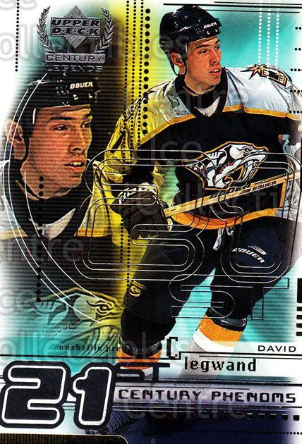 1999-00 UD Century Legends #77 David Legwand<br/>11 In Stock - $1.00 each - <a href=https://centericecollectibles.foxycart.com/cart?name=1999-00%20UD%20Century%20Legends%20%2377%20David%20Legwand...&quantity_max=11&price=$1.00&code=81552 class=foxycart> Buy it now! </a>